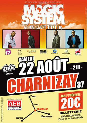 Affiche Concert Magic System charnizay